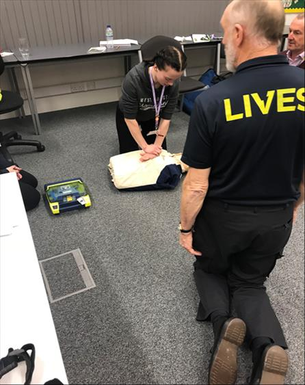 Career Academy students Emergency First Aid training