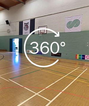 A link to a 360 tour of Sports Hall